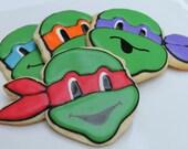 Ninja Turtles - one dozen cookie favors