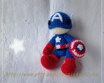 Captain 6 inches - PDF amigurumi crochet pattern