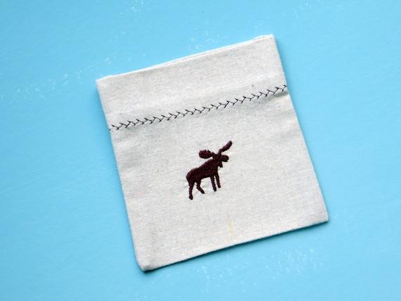 moose napkins, Maine moose, flatware pockets, silverware holders, cabin decor, northwoods table