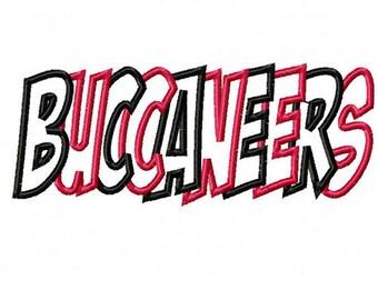 Buccaneers Embroidery Machine Applique Design 4013