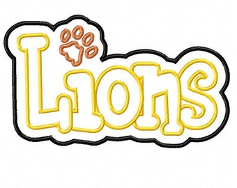Lions Embroidery Machine Double Applique Design 4027 INSTANT DOWNLOAD