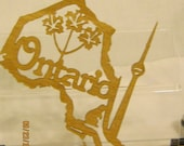 ONTARIO CANADIAN PROVINCE Scroll Saw Plaque