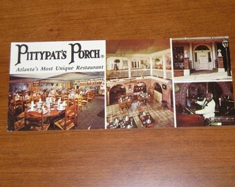 Unused Picture Postcard Pittypat's Porch Restaurant Atlanta Georgia