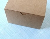 Kraft Gift Box - 5 x 5 x 3 inches - Blanks (6) Gift Box, Wedding Favor Box