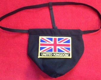 Mens UNITED KINGDOM Winter Olympics G-String Thong Male Soccer World Cup Lingerie Country Underwear