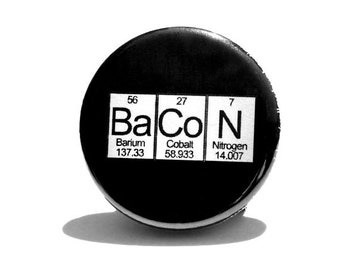 Bacon Periodic Table Magnet
