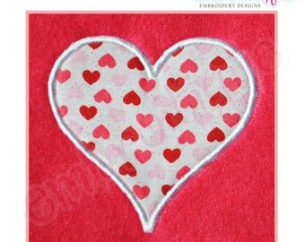 Heart Applique - Large- Instant Download -Digital Machine Embroidery Design