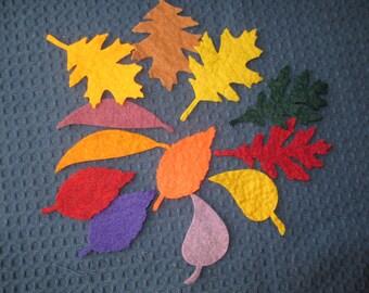 Wool Felt Leaves - assorted set 2