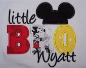 SHIPS FREE Personalized Custom Disney Mickey Big Middle Little BRO Shirt or Bodysuit for Big Little Brother Sibling