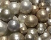 Fondant Edible Pearls, Metallic colors, 400 pearls, Cake Pearls, Lux Wedding Decor, Cupcake Decorations, Cupcake Topper,Cake Decoration