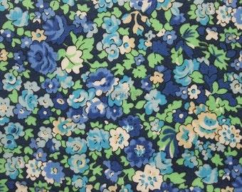 Liberty tana lawn printed in Japan - Natalie - Blue green mix