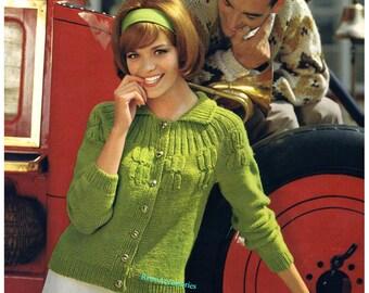 SALE *** Ladies French Style Cardigan - Knitting Pattern PDF Sizes SML