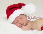Baby boy hat, baby girl hat, crochet santa hat, santa hat, photo prop, baby shower gift, coming home outfit, first christmas, christmas