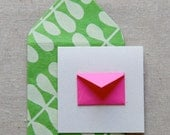 Tiny Envelope Gift Enclosure Cards - Guava