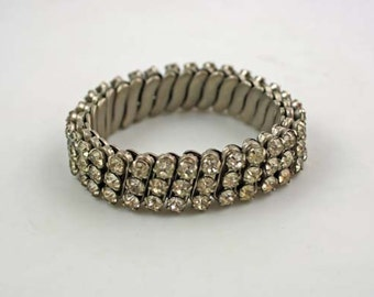 Vintage 1950 Rhinestone Elastic Bracelet