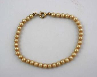 Vintage Trifari Faux Pearl Bracelet