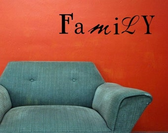 Vinyl Wall words quotes and sayings #0243 Family