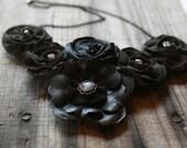 ON SALE - Black Bib necklace
