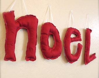 """Holiday Custom Hanging Letters. 20"""". Made to Order."""