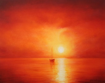Red Pepper Skies limited edition mounted giclee print on paper