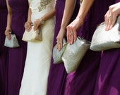 Bridesmaids Custom Silk Silver Wedding Clutches Bridesmaids Gift Bags Customize Your Lolis Creations Clutch Purse Personalized Bags