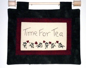 Fabric Wall Hanging - Time For Tea