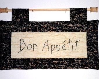 Fabric Wall Hanging - Bon Appetit