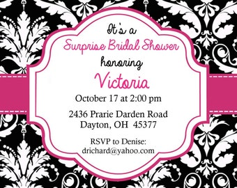 """Bridal Shower Invitation """"Simply Stated"""""""