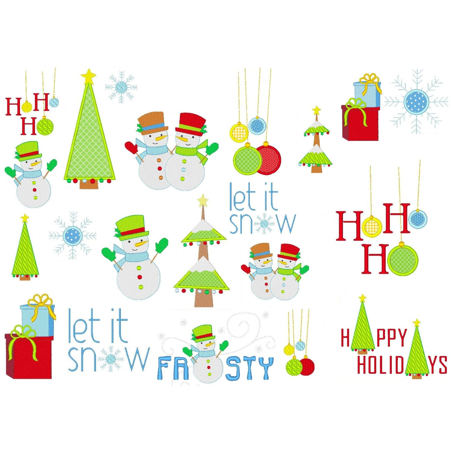 Christmas machine embroidery designs modern and by embroidalot