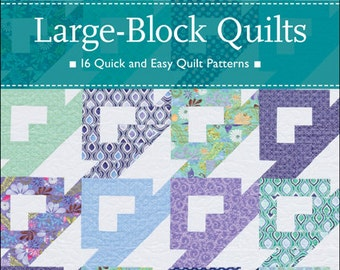 Large-Block Quilts, 16 Quick and Easy Quilt patterns autographed copy