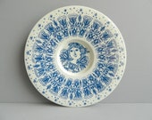 Bjorn Wiinblad Large Blue Decorative Plate from Nymolle Denmark