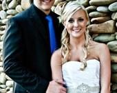 Wedding Bridal Dress Gown Jeweled Beaded Crystal Embellishment Sashes Sash Trim