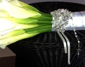 Bridal Bouquet Jewelry Rhinestone Brooch Beaded Embellishment Wrap #3