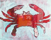 SALE - Red Crab Print 8x10