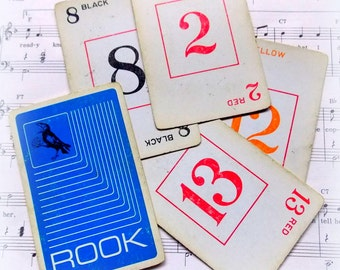 Vintage ROOK Playing Cards / Lot of 5 / Journal / Old Cards / Planner Supply / Scrapbook