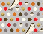 Organic Cotton Fabric- Birch- Charley Harper - BANK SWALLOW fall - Great Shipping Rates