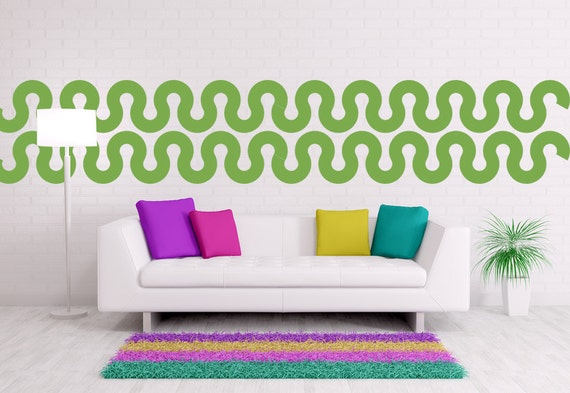 Wall Decorations With Ribbon : Items similar to mid century wall decor geometric
