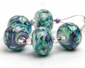 Celest Ripple 5 - Handmade Lampwork Glass Beads by Sarah Downton