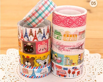 Cartoon & Travel mini deco tape set 05 Series 9