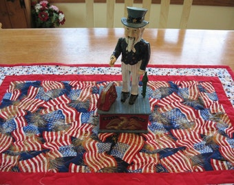 Americana Red White and Blue Table Flag Table Runner