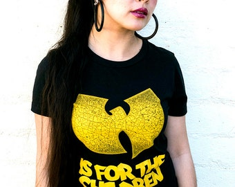 Wutang is for the children fitted ladies tee.