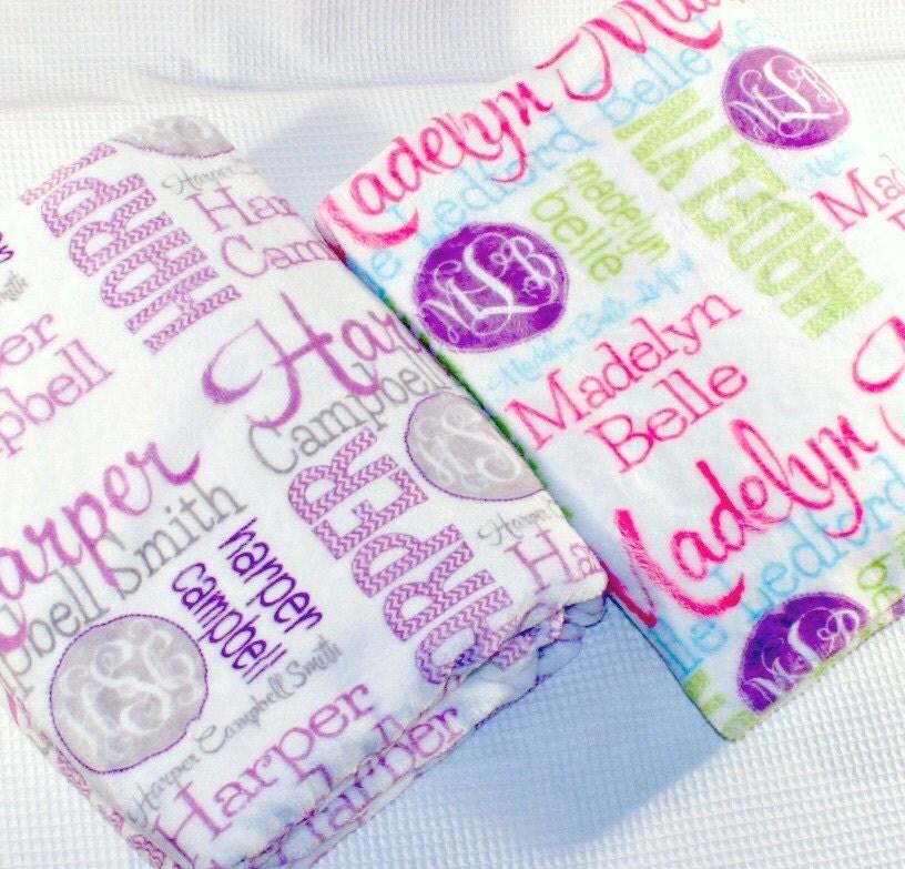personalized blanket monogrammed throw blanket name blanket