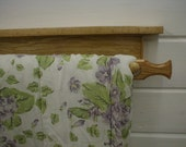 Oak Wall Mounted Natural Quilt Rack