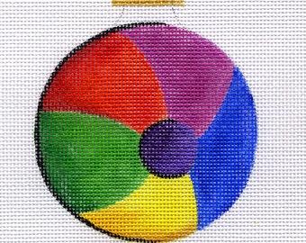 Beach Ball Needlepoint Ornament - Jody Designs - B144