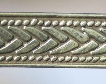Brass Ring Stock, Jewelry Supply, 10.5mm wide, Chevron