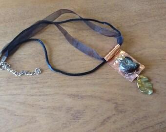 Jurassic Fossil Copper Necklace