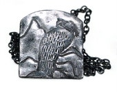 Oxidized Silver Vulture Necklace, Totem Animal, Bird Pendant, Vulture Jewelry