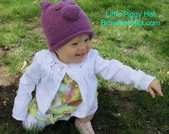 Little Piggy Hat Knitting Pattern
