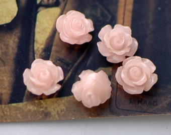 Coral Flower 8mm Cabochon beads Pink -(SF20-1)/ 20pcs