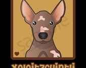 Xoloitzcuintli Cartoon Heart T-Shirt Tee - Men's, Women's Ladies, Short, Long Sleeve, Youth Kids